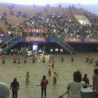 Photo taken at GOR Sang Bumi Ruwa Jurai (Saburai) by Ekfan S. on 3/18/2012