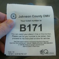 Photo taken at Johnson County Motor Vehicle Office by Carisa M. on 10/13/2011