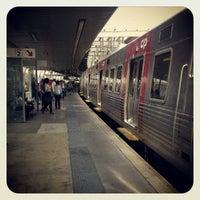 Photo taken at Estação Ferroviária de Entrecampos by Kader B. on 6/9/2012