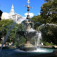 Photo taken at City Hall Park by Rachel H. on 8/29/2012