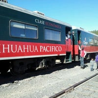 Photo taken at Ferrocarril Chihuahua Pacífico (Chepe) Estación Divisadero by Jorge M. on 2/5/2012
