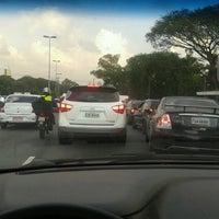 Photo taken at Ponte das Bandeiras by Rafael S. on 6/15/2012