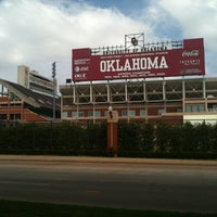 Photo taken at Gaylord Family Oklahoma Memorial Stadium by Jeff T. on 4/26/2012