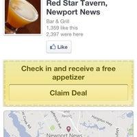 Photo taken at Red Star Tavern Newport News by Jennifer T. on 6/1/2012