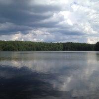 Photo taken at Lake Johnson by Josh N. on 6/5/2012