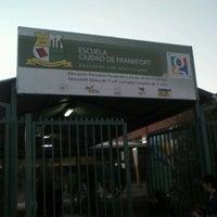 Photo taken at escuela ciudad de frankfort by pablo S. on 4/16/2012