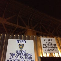 Photo taken at NYPD Queens Tow Operations by Ronald A. on 11/26/2011