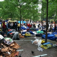 Photo taken at #OCCUPYWALLSTREET by Piotr S. on 10/1/2011