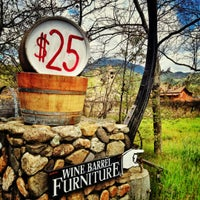 Photo taken at Wine Barrel Furniture by Peter S. on 4/13/2012