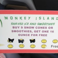 Photo taken at Monkey Island Shaved Ice by Dena B. on 7/3/2012