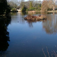 Photo taken at Pittville Park & Lake by Rachel F. on 3/11/2012