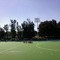 Photo taken at Estadio Panamericano de Hockey by Rene Alejandro S. on 10/26/2011