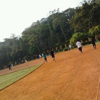 Photo taken at Sasana Olahraga Ganesha (Saraga) by Curio L. on 10/18/2011