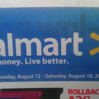 Photo taken at Walmart Supercenter by Jamark G. on 8/18/2012