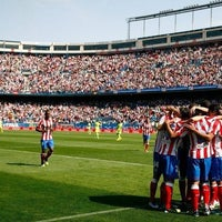 Photo taken at Estadio Vicente Calderón by Agustin C. on 4/3/2012