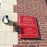 Photo taken at Boston University School of Education by Brian B. on 8/20/2012