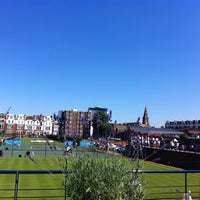 Photo taken at Queen's Club - Court 1 by Tom J. on 7/23/2012