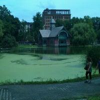 Photo taken at Central Park - Harlem Meer by Jeroen v. on 7/31/2012