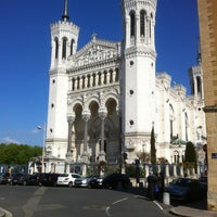 Photo taken at Basilica of Notre-Dame de Fourvière by Steve T. on 4/8/2012