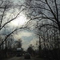 "Photo taken at Переезд ""Новодачная"" by Den B. on 4/22/2012"