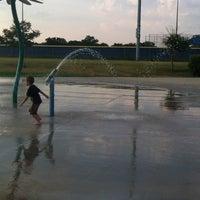Photo taken at Fort Sam Houston MWR Splashpad by Catherine M. on 6/29/2012