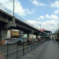 Photo taken at Yellow Line - Araneta Center-Cubao Station by June G. on 4/11/2012