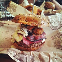 Photo taken at Bareburger by Jennifer V. on 8/19/2012