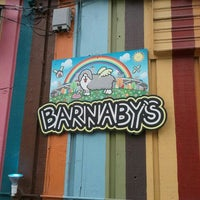 Photo taken at Barnaby's Cafe by Geralyn K. on 6/20/2012