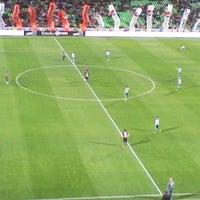 Photo taken at Territorio Santos Modelo Estadio by Antonio I. on 2/21/2012