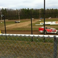 Photo taken at Albany-Saratoga Speedway by Jay M. on 4/15/2012