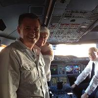 Photo taken at Lufthansa Flight LH 463 by Engin Y. on 12/24/2011