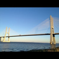 Photo taken at Ponte Vasco da Gama by Neimar A. on 7/11/2012