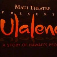 Photo taken at Maui Theatre by Anita G. on 7/21/2012