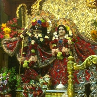 Photo taken at Radha Govinda Mandir by Shruti K. on 8/20/2012