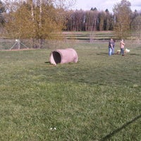 Photo taken at Potso Dog Park by Elizabeth E. on 4/14/2012