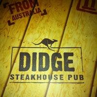 Photo taken at Didge Steakhouse Pub by Felipe G. on 8/7/2012