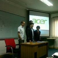 Photo taken at Telkom Business School by Iqbal F. on 3/29/2012