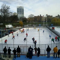 Photo taken at Lasker Pool & Ice Rink by justen f. on 12/10/2011