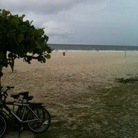 Photo taken at Estatua Pelada do Barra Beach by diego i. on 4/22/2012
