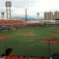Photo taken at Mudeung Baseball Stadium by sunhwa k. on 8/11/2011