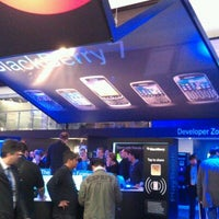 Photo taken at BlackBerry at Mobile World Congress 2012 by Andy B. on 2/27/2012