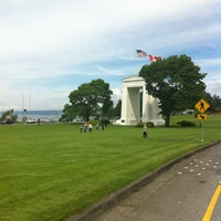 Photo taken at Peace Arch Border Crossing by Ruben P. on 6/23/2012