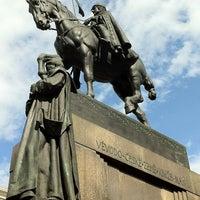 Photo taken at Socha svatého Václava | Saint Wenceslas statue by Luis María L. on 7/14/2012