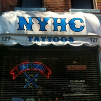 Photo taken at New York Hardcore Tattoos by Rob H. on 6/15/2012