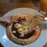 Photo taken at Hummus Place by Ana Carolina S. on 2/29/2012