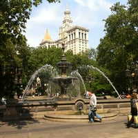 Photo taken at City Hall Park by Ross S. on 5/16/2012