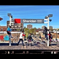 Photo taken at CTA - Sheridan by Brandon T. on 4/4/2012