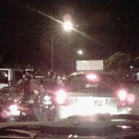 Photo taken at Depan Universitas Pancasila (UP) by Dhesy S. on 2/15/2012