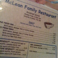Photo taken at McLean Family Restaurant by Chris M. on 7/8/2012
