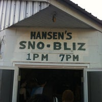Photo taken at Hansen's Sno-Bliz by O.Shane B. on 4/28/2012